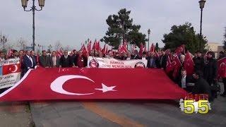 SAMSUN'DA YÜZLERCE KİŞİ BAYIRBUCAK TÜRKMENLERİ İÇİN DUA ETTİ...