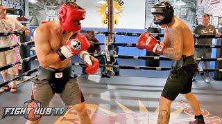 Jose Benavidez Jr. putting in hard sparring w/Sergey Lipinets ahead of July 23rd fight