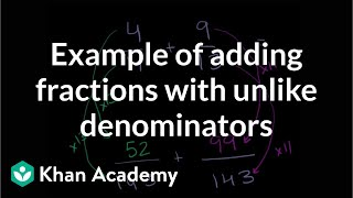 Adding fractions (ex 1)