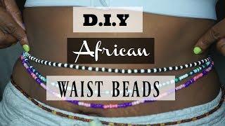 DIY African Waist Beads Tutorial   For Weight Loss Measurement