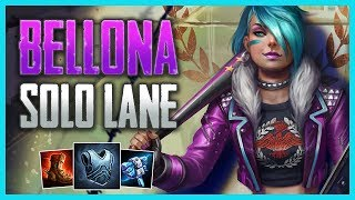 SMITE Conquest: Bellona Solo (Gameplay Guide)   How To Proxy and Build a Lead!