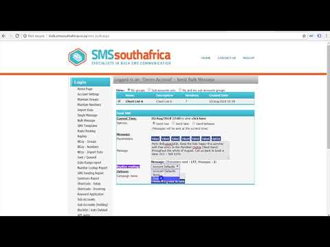 Send a Bulk SMS (with NAMES) to a List of Mobile Numbers | SMS South Africa (Legacy)