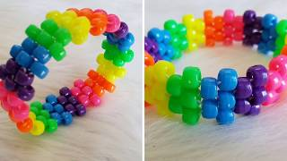 DIY Peyote Stitch Kandi Cuff Tutorial