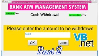 Banking ATM Management System Project in VB-NET Part 1 - ฟรี