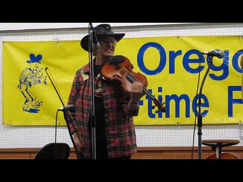 "Donna at the Oregon Old Time Fiddlers Convention in Rickreal, Oregon, playing ""The Wizard's Walk"" and ""Ragtime Annie"""