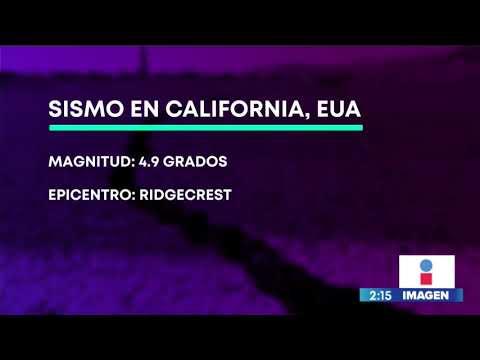 Sismo de magnitud 4.9 sacude a California, Estados Unidos | Noticias con Yuriria Sierra