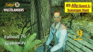 Fallout 76 Wastelanders DLC - Scavenger Hunt - Build the Forager's Chair - Retrieve weapon case