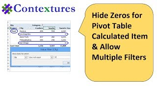 Hide Zeros for Pivot Table Calculated Item