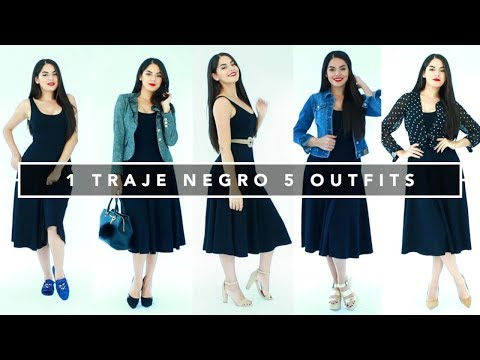 1 Traje Negro 5 Outfits | Beauty by Mayely | Fashion Video