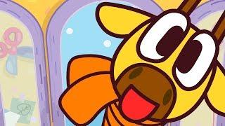 Веселые песни для детей - Жираф и шарф - Учим цвета! Мультики для малышей