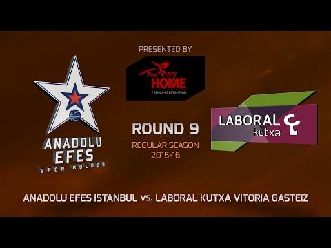 Highlights: RS Round 9, Anadolu Efes Istanbul 95-86 Laboral Kutxa Vitoria Gasteiz