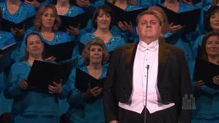 """Stanford Olsen sings """"The Holy City"""" with the Mormon Tabernacle Choir"""