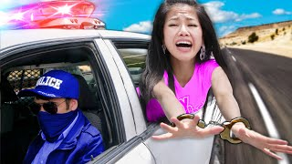 I GOT ARRESTED & Must ESCAPE COP CAR in 24 Hours or be Trapped in Prison