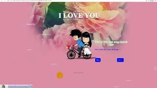 Hướng dẫn làm Web lung linh cực đẹp tặng người yêu bạn bè  - NVTH Channel
