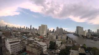 2015-05-16 Timelapse - Clouds over the Chao Phraya River, Bangkok