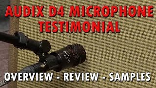 The Audix D4 -The Best Tom Microphone - Testimonial - Overview And Samples