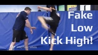preview picture of video 'Fake Low, Kick High! Using The Eyes To Fake A Head Kick'