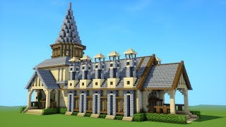 minecraft mansion house tutorial
