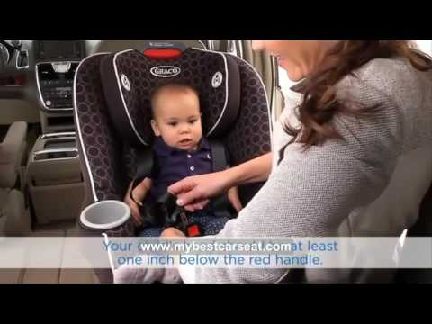 How to Install Convertible car seat Forward & Rear Facing (Graco Contender 65)