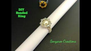 Beaded Ring.wedding Ring.DIY Ring