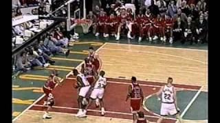 Michael Jordan 45 points (half-court shot)  vs Sonics (1997)