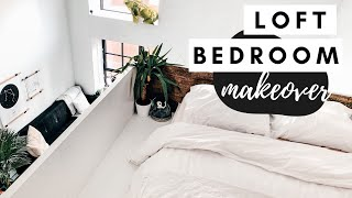 Minimal Loft Bedroom Makeover | Tiny Apartment