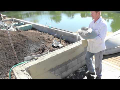 How to use fast setting plaster to skim coat over cinder - How to stucco exterior cinder block walls ...