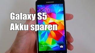 Samsung Galaxy S5 Akku sparen Einstellungen