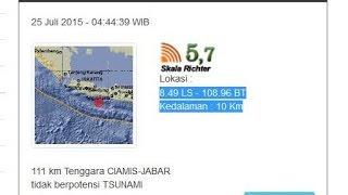 Berita Online Terkini  Gempa Ciamis 25 Juli 2015