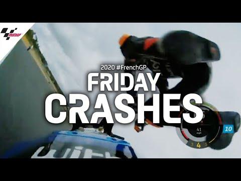 クラッシュ続出。MotoGPで転倒するライダーが続出したMotoGP フランスGPのフリープラクティス動画