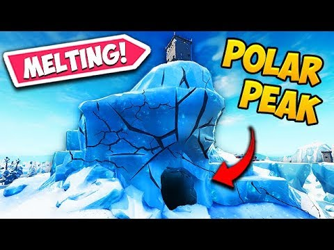 *NEW* POLAR PEAK IS FINALLY MELTING!! - Fortnite Funny Fails and WTF Moments! #566