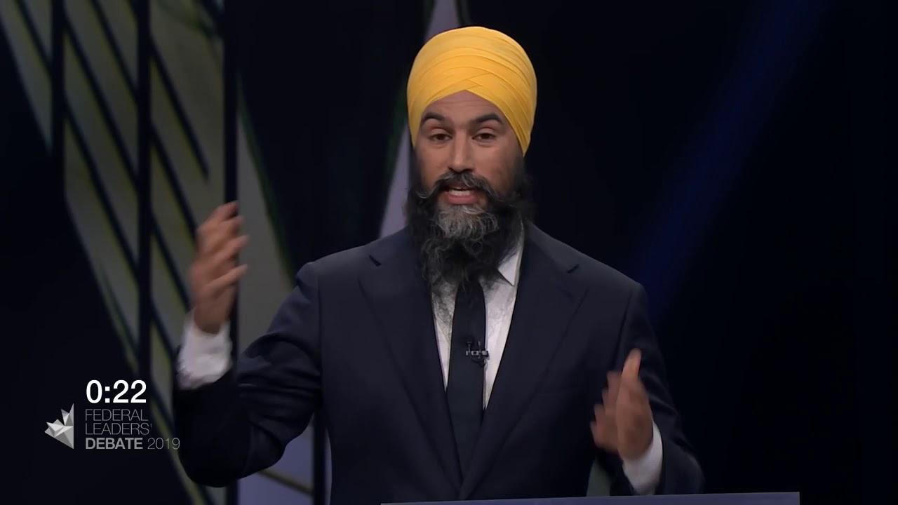 Justin Trudeau debates Jagmeet Singh about pipelines vs. climate change