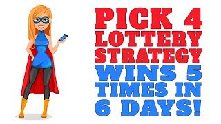 Pick 4 Lottery Strategy Wins 5 Times In 6 Days!