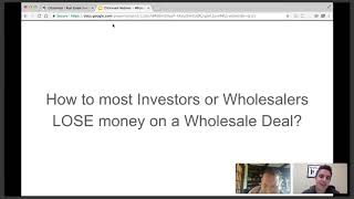 WHOLESALING! THE GOOD, THE BAD AND THE UGLY...