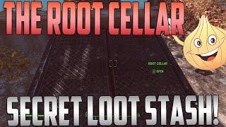 Fallout 4: Secret Loot Stash Location | The Root Cellar | Sanctuary Hills!