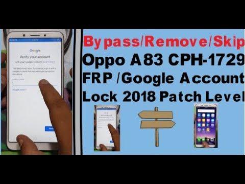 Oppo Cph1729 Password Reset