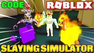 Roblox | GIẾT BOSS SĂN TIỀN THƯỞNG MỞ PET LEGENDARY - ⚔️ Slaying Simulator (Code) | KiA Phạm