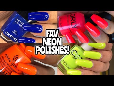FAV NEON NAIL POLISHES! China Glaze, Color Club, Louboutin, Orly