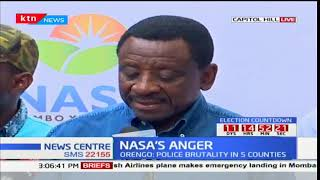 Senator James Orengo shares NASA's anger over the killing of 5 supporters in Migori County
