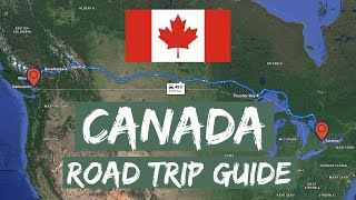Canada Road Trip: Toronto to Vancouver in 7 minutes 4K