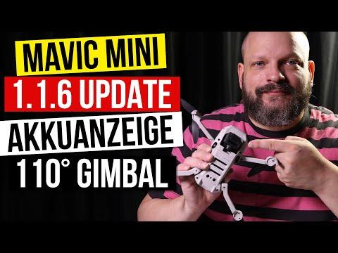 Mavic Mini 1.1.6 App Update: 110° Gimbal und neue Akkustandanzeige - Gimbal nach oben schwenken