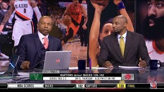 Greg Anthony & Jason Terry REACT to Raptors def. Bucks 120-102 with Kawhi 19 Pts; Giannis 25 Pts
