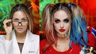 Harley Quinn Suicide Squad Glam Makeup Tutorial