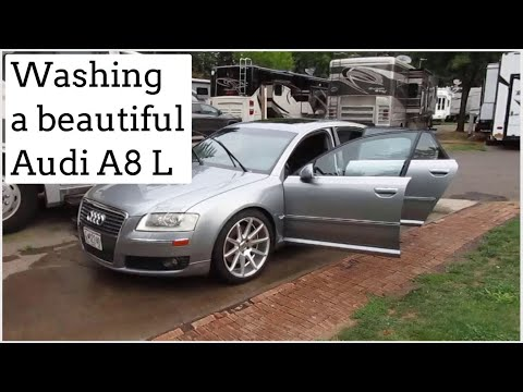 "Washing a 2006 Audi A8 L with Custom 20"" Wheels and Straight Exhaust"