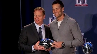 Roger Goodell Hands Tom Brady Super Bowl MVP Trophy | ABC News