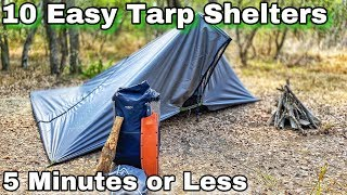 10 Easy Tarp Shelters for Survival