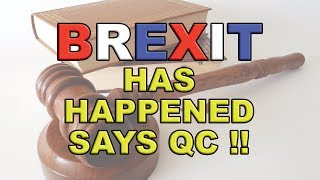Another QC says the UK left the EU on the 29th March 2019!