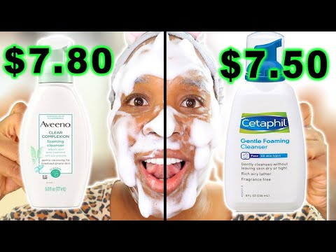 Cetaphil Foaming Cleanser vs. Aveeno Foaming Cleanser! The BEST Foaming Facial Cleanser?