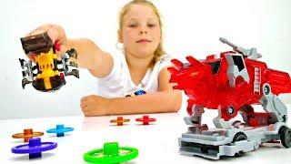 Игрушки Трансформеры: соревнования Диких Скричеров. Мультики с машинками