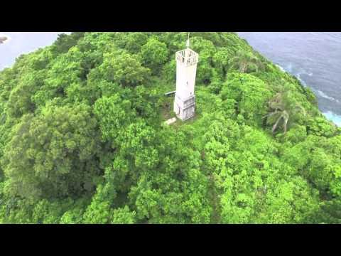 Drone sobrevoando a Ilha das Cobras